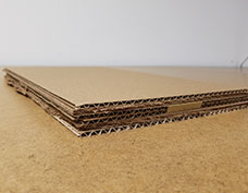 protective layers of cardboard
