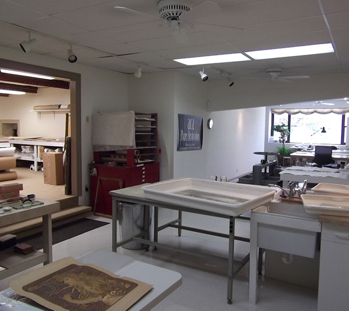 interior view of ACA Paper Restoration studio
