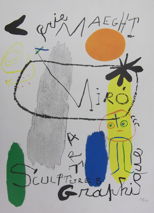 Color Lithograph (Miro)