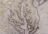Map with engraving