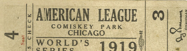 Antique ticket for sporting event